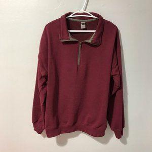 Gildan Women's Burgundy Cotton Blend Sweatshirt L